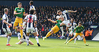 Preston North End's Jayden Stockley is denied a goal scoring chance by West Bromwich Albion's Craig Dawson<br /> <br /> Photographer Stephen White/CameraSport<br /> <br /> The EFL Sky Bet Championship - West Bromwich Albion v Preston North End - Saturday 13th April 2019 - The Hawthorns - West Bromwich<br /> <br /> World Copyright © 2019 CameraSport. All rights reserved. 43 Linden Ave. Countesthorpe. Leicester. England. LE8 5PG - Tel: +44 (0) 116 277 4147 - admin@camerasport.com - www.camerasport.com