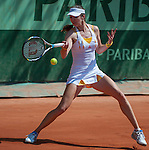 Galina Voskoboeva (KAZ) loses in first round at Roland Garros in Paris, France on May 28, 2012