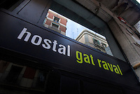 Spanien, Barcelona, Hostal Gat Raval auf der Carrer Joaquim Costa 44 in Raval