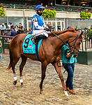 OCT 03, 2021: MAGIC CIRCLE post parade in  Gr.1  Frizette Stakes, for 2 year old fillies, at Belmont Park, Elmont, NY.  Sue Kawczynski/Eclipse Sportswire/CSM