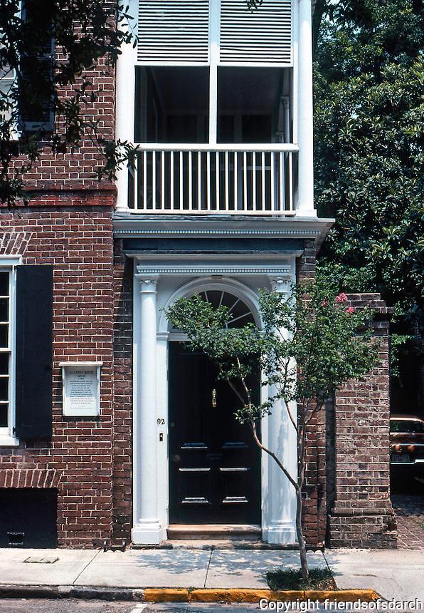 Charleston:  Charleston House--early 19th century.  Photo '78.