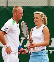 20-08-11, Tennis, Amstelveen, Nationale Tennis Kampioenschappen, NTK, Olga Kalyuzhnaya en Bart de Gier winnaars mixed