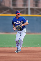 Texas Rangers Dylan Moore (62) during an instructional league game against the Los Angeles Angels / Chicago Cubs co-op team on October 5, 2015 at the Surprise Stadium Training Complex in Surprise, Arizona.  (Mike Janes/Four Seam Images)