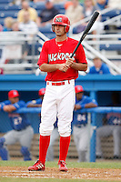 June 21, 2009:  Matt Carpenter of the Batavia Muckdogs at bat during a game at Dwyer Stadium in Batavia, NY.  The Muckdogs are the NY-Penn League Short-Season Class-A affiliate of the St. Louis Cardinals.  Photo by:  Mike Janes/Four Seam Images