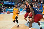 Herbalife Gran Canaria's player Bo McCalebb and FC Barcelona Lassa player Justin Doellman and Joey Dorsey during the final of Supercopa of Liga Endesa Madrid. September 24, Spain. 2016. (ALTERPHOTOS/BorjaB.Hojas)