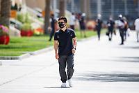26th March 2021; Sakhir, Bahrain; F1 Grand Prix of Bahrain, Free Practice sessions;  TSUNODA Yuki (jap), Scuderia AlphaTauri Honda AT02 arrives trackside during Formula 1 Gulf Air Bahrain Grand Prix 2021