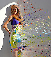 A beautiful woman's dispersion