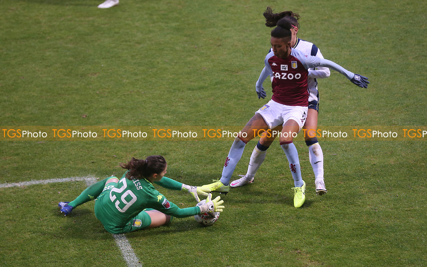 Lisa Weiß of Aston Villa collects the ball during Tottenham Hotspur Women vs Aston Villa Women, Barclays FA Women's Super League Football at the Hive Stadium on 13th December 2020