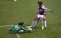 Lisa Weiß of Aston Villa collects the ball during Tottenham Hotspur Women vs Aston Villa Women, Barclays FA Women's Super League Football at the Hive Stadium on 13th December 2020