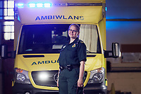 Pictured: Melanie de Castro Pugh at a Welsh Ambulance Service depot in Gelli, Pentre, Wales, UK. Tuesday 24 August 2021<br /> Re: Melanie de Castro Pugh has changed careers later on in life.