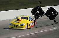 Sept. 3, 2011; Claremont, IN, USA: NHRA pro stock driver Rodger Brogdon during qualifying for the US Nationals at Lucas Oil Raceway. Mandatory Credit: Mark J. Rebilas-