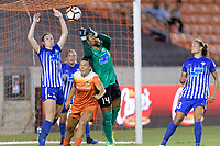 Houston, TX - Saturday July 22, 2017: Morgan Andrews, Amber Brooks and Abby Smith during a regular season National Women's Soccer League (NWSL) match between the Houston Dash and the Boston Breakers at BBVA Compass Stadium.