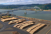 Logging export terminal on Columbia River