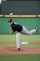 Tampa Yankees pitcher Chaz Hebert (18) delivers a pitch during a game against the Clearwater Threshers on April 21, 2015 at Bright House Field in Clearwater, Florida.  Clearwater defeated Tampa 3-0.  (Mike Janes/Four Seam Images)