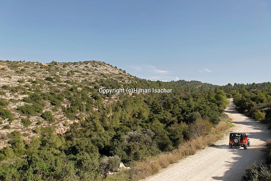 Israel, Jerusalem Mountains. The Jeeps Road