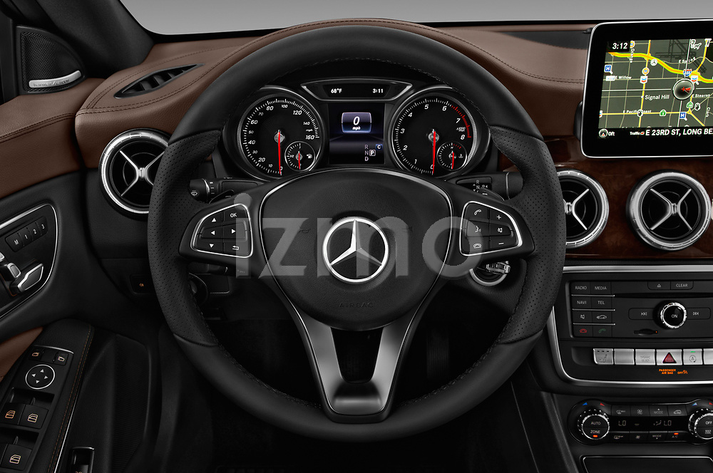 Car pictures of steering wheel view of a 2019 Mercedes Benz CLA CLA250 5 Door SUV