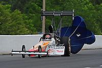 May 13, 2011; Commerce, GA, USA: NHRA top fuel dragster driver Clay Millican during qualifying for the Southern Nationals at Atlanta Dragway. Mandatory Credit: Mark J. Rebilas-