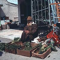 Auf dem Markt in Aschdod, Israel 1970er Jahre. At the market in Ashdod, Israel 1970s.