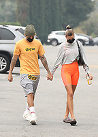 WEST HOLLYWOOD, CA - SEPTEMBER 12: Justin Bieber and Hailey Bieber Seen on the way to Pilates class In West Hollywood, California on September 12, 2020. <br /> CAP/MPI99<br /> ©MPI99/Capital Pictures