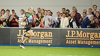 20130803 Copyright onEdition 2013 ©<br />Free for editorial use image, please credit: onEdition.<br /><br />Charlie Walker of Harlequins 7s runs in another try during the J.P. Morgan Asset Management Premiership Rugby 7s Series.<br /><br />The J.P. Morgan Asset Management Premiership Rugby 7s Series kicks off for the fourth season on Thursday 1st August with Pool A at Kingsholm, Gloucester with Pool B being played at Franklin's Gardens, Northampton on Friday 2nd August, Pool C at Allianz Park, Saracens home ground, on Saturday 3rd August and the Final being played at The Recreation Ground, Bath on Friday 9th August. The innovative tournament, which involves all 12 Premiership Rugby clubs, offers a fantastic platform for some of the country's finest young athletes to be exposed to the excitement, pressures and skills required to compete at an elite level.<br /><br />The 12 Premiership Rugby clubs are divided into three groups for the tournament, with the winner and runner up of each regional event going through to the Final. There are six games each evening, with each match consisting of two 7 minute halves with a 2 minute break at half time.<br /><br />For additional images please go to: http://www.w-w-i.com/jp_morgan_premiership_sevens/<br /><br />For press contacts contact: Beth Begg at brandRapport on D: +44 (0)20 7932 5813 M: +44 (0)7900 88231 E: BBegg@brand-rapport.com<br /><br />If you require a higher resolution image or you have any other onEdition photographic enquiries, please contact onEdition on 0845 900 2 900 or email info@onEdition.com<br />This image is copyright the onEdition 2013©.<br /><br />This image has been supplied by onEdition and must be credited onEdition. The author is asserting his full Moral rights in relation to the publication of this image. Rights for onward transmission of any image or file is not granted or implied. Changing or deleting Copyright information is illegal as specified in the Copyright, Design and Patents Act 1988. If y