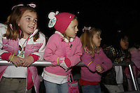 The 2008 Girl Scout Cookie Program begins with a gathering of more than 3,000 Girl Scouts, Brownies and parents at SeaWorld in San Diego, Sunday, Jan. 13 2008.  Thousands of girls enjoyed a sing-along, live music and a special Shamu Rocks show.