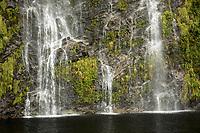 Waterfall in Doubtful Sound, Fiordland National Park, UNESCO World Heritage Area, Southland, New Zealand, NZ