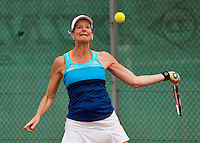 Netherlands, Amstelveen, August 21, 2015, Tennis,  National Veteran Championships, NVK, TV de Kegel,  Lady's 45+, Esther Schoudstra-Hofstede    <br /> Photo: Tennisimages/Henk Koster