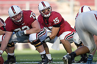 12 April 2007: Chase Beeler and Alex Loukas during Stanford's Spring Game at Stanford Stadium in Stanford, CA.