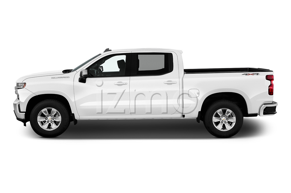 Car Driver side profile view of a 2019 Chevrolet Silverado-1500 LT 4 Door Pick-up Side View