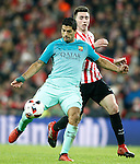 Athletic de Bilbao's Aymeric Laporte (r) and FC Barcelona's Luis Suarez during Spanish Kings Cup match. January 05,2017. (ALTERPHOTOS/Acero)