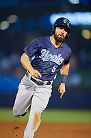 Corpus Christi Hooks second baseman Jack Mayfield (5) runs the bases during a game against the Tulsa Drillers on June 3, 2017 at ONEOK Field in Tulsa, Oklahoma.  Corpus Christi defeated Tulsa 5-3.  (Mike Janes/Four Seam Images)
