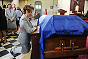 US Rep Nancy Pelosi at former US Rep. Lindy Boggs'  funeral at St. Louis Cathedral, New Orleans, Aug. 1, 2013.