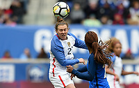 Harrison, N.J. - Sunday March 04, 2018: Savannah McCaskill during a 2018 SheBelieves Cup match between the women's national teams of the United States (USA) and France (FRA) at Red Bull Arena.