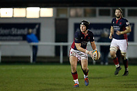 Harry Sheppard of London Scottish during the Greene King IPA Championship match between London Scottish Football Club and Nottingham Rugby at Richmond Athletic Ground, Richmond, United Kingdom on 7 February 2020. Photo by Carlton Myrie.