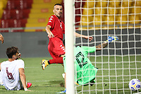 Gabriele Moncini of SC Benevento scores a goal<br /> during the friendly football match between SC Benevento Calcio and SC Reggina 1914 at stadio Ciro Vigorito in Benevento, Italy, September 12, 2020. <br /> Photo Cesare Purini / Insidefoto