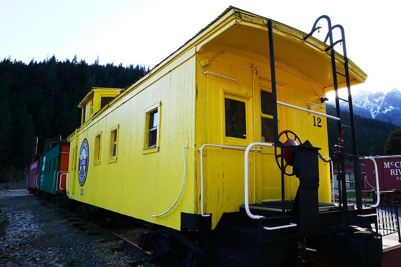 Cabouses in Railroad Park Resort. Near Dunsmuir, California