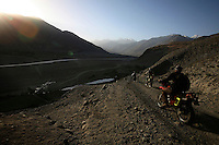 Day 5 we ride down a breathtaking mountainroad into the Wakhan corridor. What do war correspondences do on the holidays. 4 Kabul based journalists were the first westerners to ride motorcycles into the Wakhan corridor.the 12 day trip was full with dramas, breakdowns, arrests, crashes, yak riding and many miles. over 1200 kms they travelled and reached their desired destination of surhad e brogil deep in the wakhan corridor. location of the great game and once named the roof of the world.