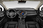 Stock photo of straight dashboard view of 2020 Volvo XC90 Momentum 5 Door SUV Dashboard