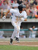 Infielder/shortstop Andrelton Simmons (33) of the Lynchburg Hillcats, Carolina League affiliate of the Atlanta Braves, in a game against the Wilmington Blue Rocks on June 15, 2011, at City Stadium in Lynchburg, Va. Simmons was a second-round pick in the 2010 First-Year Player Draft. (Tom Priddy/Four Seam Images)