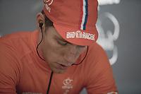 Stan Godrie (NED/Crelan Charles) pre race warming up.<br /> <br /> Men Elite Race<br /> UCI CX Worlds 2018<br /> Valkenburg - The Netherlands