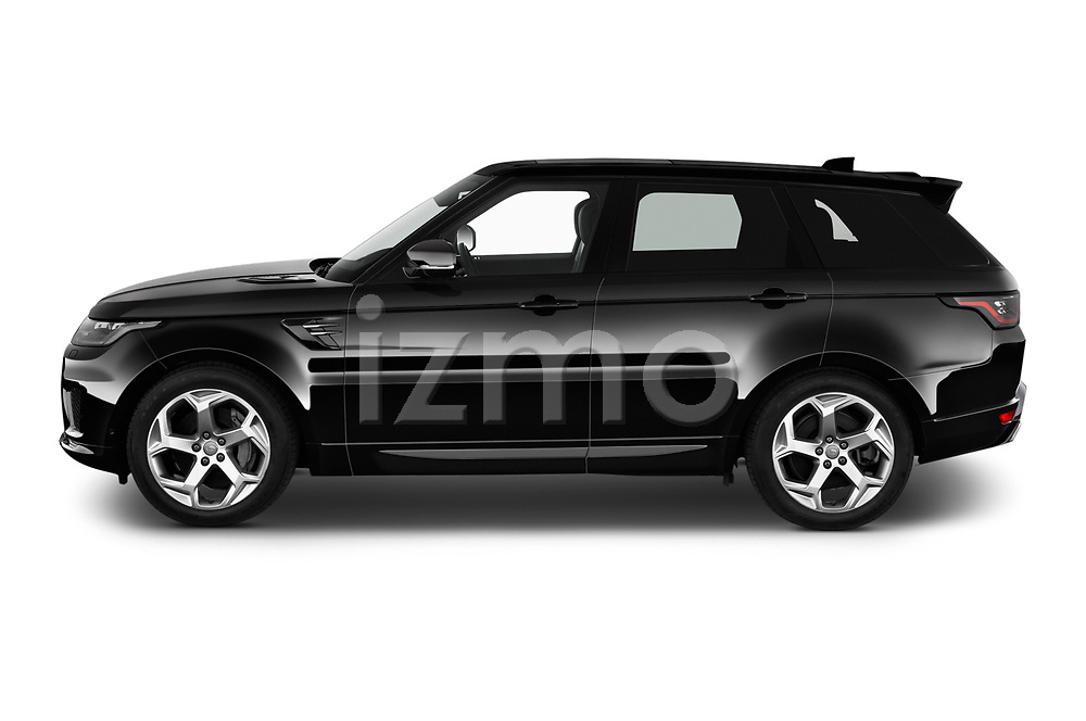 Car Driver side profile view of a 2020 Land Rover Range-Rover-Sport HSE-PHEV 5 Door SUV Side View