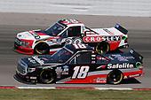 #18: Christian Eckes, Kyle Busch Motorsports, Toyota Tundra Safelite AutoGlass, #38: Todd Gilliland, Front Row Motorsports, Ford F-150 Crosley Brands