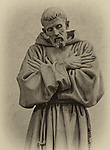 marble statue of St. Francis by Giovanni Dupre in the Basilica di San Rufino