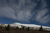 Mt. Bierstadt with clouds by moonlight