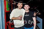 Enjoying the evening in Flanagans in Listowel on Thursday, l to r: Micheál Mullin and Darragh Breen from Listowel.