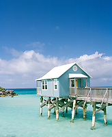 An overwater bungalow at the 9 Beaches resort in Bermuda