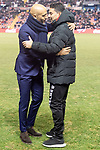 Coach Miguel Angel Sanchez Munoz of Rayo Vallecano and coach Miguel Cardoso of Celta de Vigo during La Liga match between Rayo Vallecano and Celta de Vigo in Madrid, Spain. January 11, 2019. (ALTERPHOTOS/Borja B.Hojas)