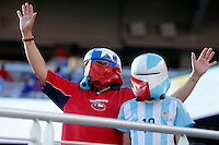 Action photo during the match Argentina vs Chile at Levis Stadium Copa America Centenario 2016. ---Foto  de accion durante el partido Argentina vs Chiler, En el Estadio de la Universidad de Phoenix, Partido Correspondiante al Grupo - D -  de la Copa America Centenario USA 2016, en la foto: Fans<br /> <br /> --- 06/06/2016/MEXSPORT/PHOTOSPORT/ Andres Pina