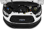 Car Stock 2019 Ford Transit-Van - 4 Door Cargo Van Engine  high angle detail view