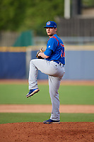 South Bend Cubs relief pitcher Brian Glowicki (17) delivers a pitch during the first game of a doubleheader against the Lake County Captains on May 16, 2018 at Classic Park in Eastlake, Ohio.  South Bend defeated Lake County 6-4 in twelve innings.  (Mike Janes/Four Seam Images)